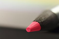 Close up of red tip point of color pencil Royalty Free Stock Photo