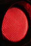 Close up Red Traffic lights at night Royalty Free Stock Photo