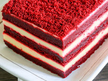 Close-up Red velvet cake Stock Images