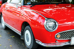 Close up of a red vintage car Royalty Free Stock Image