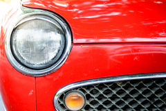 Close up of a red vintage car Stock Photos