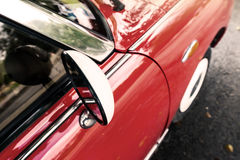 Close up of a red vintage car Stock Photography