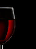 Close up of red wine glass Stock Photo
