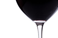 Close-up red wine and wine glass Stock Photos