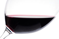Close-up of a red wine in a wine glass Royalty Free Stock Photos