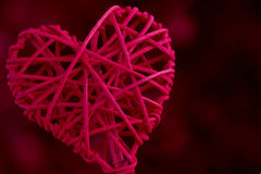 Close Up Red Woven Heart Stock Images