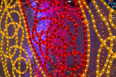Close up of Red and Yellow Leds Illumination Arrangement Royalty Free Stock Photo