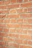 Close-up of reddish-brown brick wall Royalty Free Stock Image