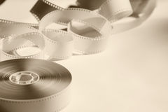 Close-up reel with a negative film. Stock Photography