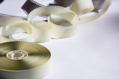 Close-up reel with a negative film. Copy space for announcement Royalty Free Stock Images