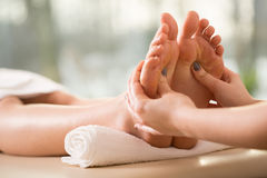 Close-up of reflexology Royalty Free Stock Photo
