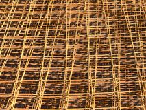 Close-up of reinforcing steel bar mesh Stock Images