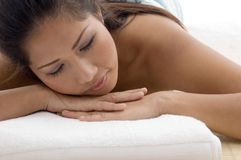 Close up of relaxing beautiful woman Stock Photography