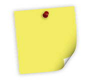 Close up of reminder with clip. Close up of reminder on white background with clipping path Stock Photos