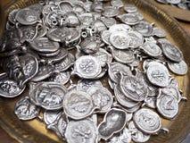 Silver  ancient coins Royalty Free Stock Photos