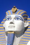Close-up of replica of Sphinx at the Luxor Hotel, Las Vegas, NV Royalty Free Stock Photos