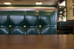 Close up on a Restaurant Booth Royalty Free Stock Images
