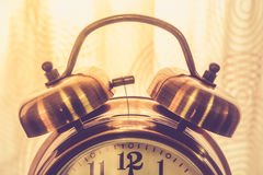 Close up retro alarm clock Stock Photography