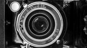 Close-up of retro camera lens Royalty Free Stock Photography