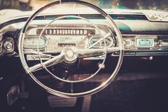 Close-up of retro car part Royalty Free Stock Images