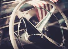 Close-up of retro car part Stock Photo