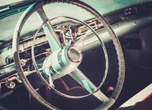 Close-up of retro car part Royalty Free Stock Photo