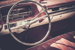 Close-up of retro car part Royalty Free Stock Photography
