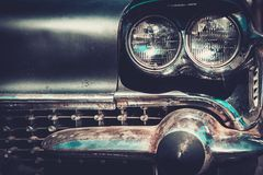 Close-up of retro car part Royalty Free Stock Photos