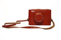 Close-up retro film camera isolated on white Stock Image