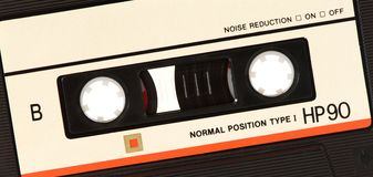 Music audio tape royalty free stock images
