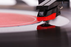 Close up of a retro record player. Close up of an old retro record player Royalty Free Stock Images