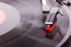 Close up of a retro record player Royalty Free Stock Photography