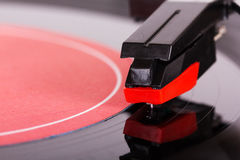 Close up of a retro record player Royalty Free Stock Photos