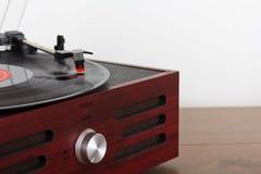 Close up of a retro record player Stock Photos