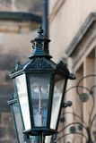 Close up old lamp. Close up of retro street lamp in Prague Stock Image