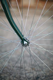 Close up of retro styled bicycle wheel Stock Images