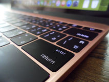 Close up of return key from a laptop Stock Image