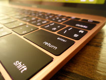 Close up of return key from a laptop Stock Photos