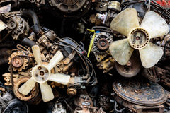 Close up of reused car equipments Stock Image