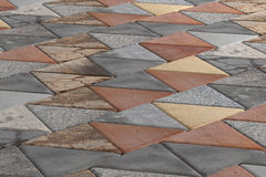 Close-up of rhombus pavement Royalty Free Stock Photo