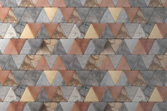 Close-up of rhombus pavement Stock Image