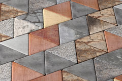 Close-up of rhombus pavement Stock Images
