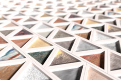 Close-up of rhombus pavement Royalty Free Stock Images