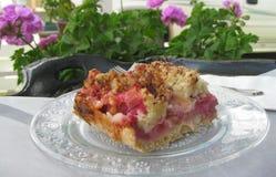 Close up of Rhubarb cake Stock Photo