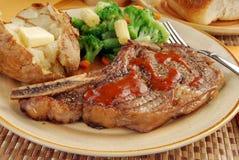 Close up of a rib eye steak Stock Image