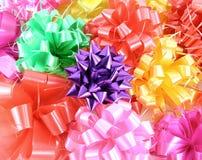 Close-up ribbon gift bow Stock Photos