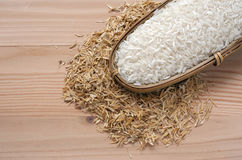 close up Rice and rice hulls Royalty Free Stock Photos