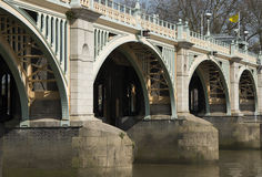 Close up of Richmond Locks. On the River Thames Royalty Free Stock Photo