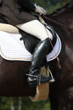 Close up of rider during dressage competition Royalty Free Stock Images