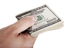 Giving Out Cash - Folded royalty free stock image
